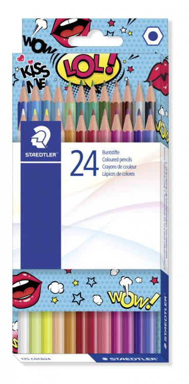 """Карандаши цветные """"Сomic"""", 24 цвета"""