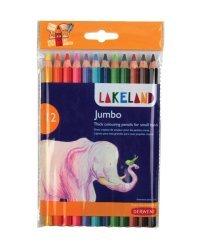 "Набор цветных карандашей ""Lakeland Jubmo"", 12 цветов"