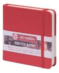 """Блокнот для зарисовок """"Art Creation"""", 12x12 см, 80 листов, красный"""