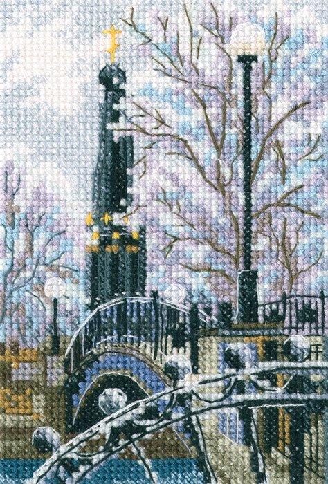"""Набор для вышивания """"Мостик вздохов в Лопатинском саду"""", 9x13.5 см"""