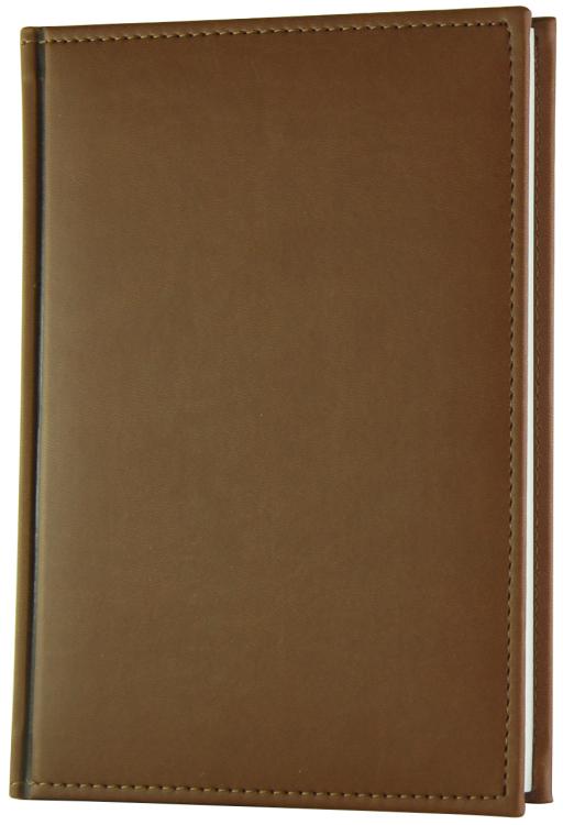 """Ежедневник полудатированный, А5, 384 страницы, """"Sorrento"""", коричневый, с прошивкой, ляссе, отрывной уголок"""