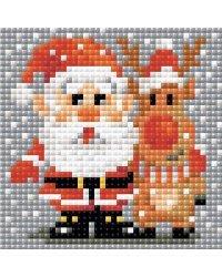"Набор алмазной мозаики Риолис ""Санта-Клаус"", 10x10 см, арт. АМ0018"
