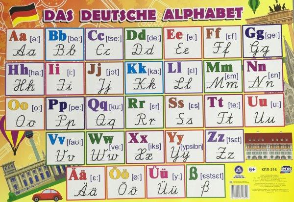 "Плакат ""Немецкий алфавит"""