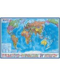 """Карта """"Мир"""", политическая, 1:28 млн, 1170x800 мм, интерактивная"""