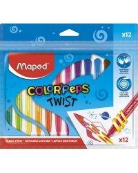 """Мелки восковые """"Color'Peps Twist"""", 12 цветов"""