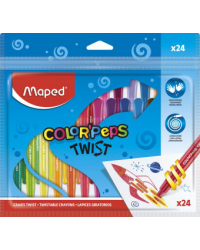 "Мелки восковые ""Color'Peps Twist"", 24 цвета"