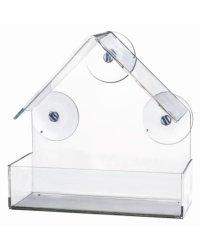 """Кормушка оконная для птиц """"Trixie"""", 15x15x6 см, цвет: прозрачный"""