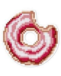 """Кристальная мозаика (алмазная вышивка) Фрея """"Магнит. Пончик"""", 9x9 см, арт. ALVM-008"""