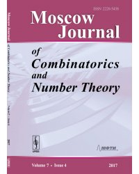 Moscow Journal of Combinatorics and Number Theory. Volume 7. Issue 4