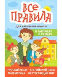 Все правила для начальной школы в таблицах и схемах. Русский язык, английский язык, математика, окружающий мир
