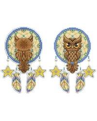 """Набор для вышивания крестом на пластиковой канве Жар-Птица """"Ловец снов. Сова"""", 10x18 см, арт. Р-273"""