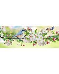 """Набор для вышивания крестом на канве с рисунком Нова Слобода """"Я жду тебя"""", 74x28 см, арт. СВ1602"""