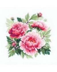 """Набор для вышивания крестом Риолис """"Древовидный пион"""", 40x40 см, арт. 1854"""