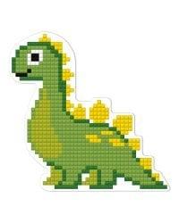 """Кристальная мозаика (алмазная вышивка) Фрея """"Магнит. Динозаврик"""", 9,5x9,5 см, арт. ALVM-020"""