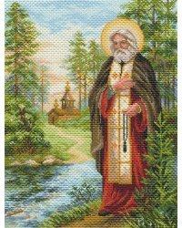 """Набор для вышивки крестом """"Рисунок на канве. Серафим Саровский"""", 37х49 см, арт. 1713"""