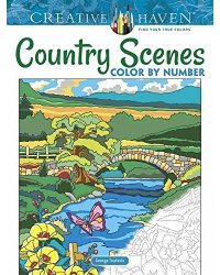 Country Scenes. Color by Number