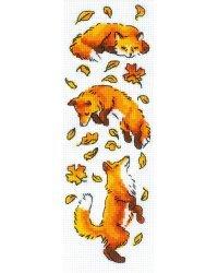 """Набор для вышивания крестом Риолис """"Лисы в листве"""", 8x24 см, арт. 1879"""