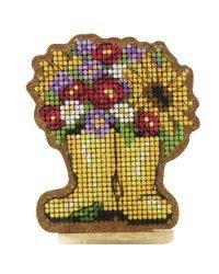 """Набор для вышивания сувенира на твердой основе """"Осенний букет"""", 6х7,4 см, арт. ВВ-63"""