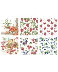"""Набор бумажных салфеток для декупажа Love2art """"Сочный микс"""", 6 штук, 33x33 см, арт. SDS №58"""