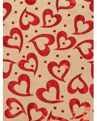 "Крафт бумага ""Большие сердца"""