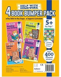Help with Homework. Maths, Phonics, Reading & Writing, Tell the Time Pack 5+