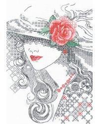 """Набор для вышивания в технике блэкворк Риолис """"Таинственная Роза"""", 21x30 см, арт. 1887"""