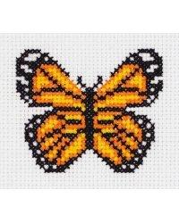 """Набор для вышивания крестом Klart """"Маленькая бабочка"""", 9,5x9 см, арт. 8-430"""