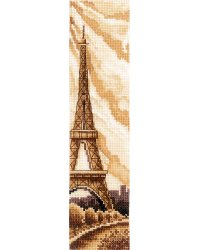 """Набор для вышивания крестом Сделай своими руками """"Закладки. Париж"""", 5,5x22 см, арт. З-52"""