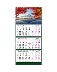 """Календарь настенный на 2021 год """"Рассвет на озере"""", 305х675 мм"""