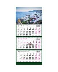 "Календарь настенный на 2021 год ""Греция. Санторини"", 305х675 мм"