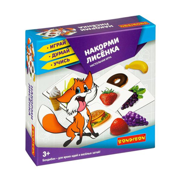 """Настольная игра Bondibon """"Накорми лисёнка"""""""