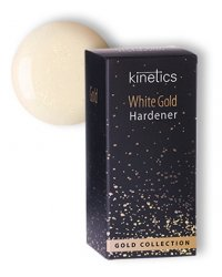 """Укрепитель для ногтей Kinetics """"White Gold Hardener"""", нежно-молочный цвет с золотым мерцанием, 15 мл"""