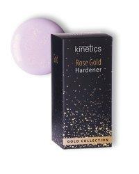 """Укрепитель для ногтей Kinetics """"Rose Gold Hardener"""", полупрозрачное нежно-розового оттенка покрытие с золотистым мерцанием, 15 мл"""