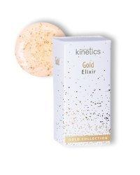 """Эликсти ультра-обогощённый для ногтей Kinetics """"Gold Elixir"""", покрытие с золотыми частичками, 15 мл"""