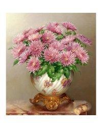 """Алмазная мозаика """"Бузин. Розовые астры"""" (37 цветов)"""