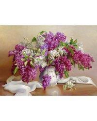 """Алмазная мозаика """"Бузин. Сирень"""" (30 цветов)"""