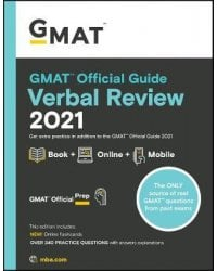 GMAT Official Guide Verbal Review 2021. Book + Online Question Bank