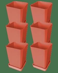 Набор горшков для рассады, 750 мл, 6 штук, цвет терракотовый
