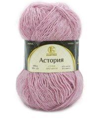 """Пряжа для вязания """"Астория"""", цвет: 056 розовый, 180 м, 5 мотков по 50 грамм (количество товаров в комплекте: 5)"""