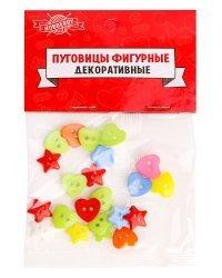 """Пуговицы фигурные """"Яркий микс"""", 12 мм, 20 штук"""