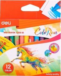 """Восковые мелки Deli """"Colorun"""", 12 цветов, арт. EC20800"""