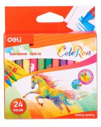 """Восковые мелки Deli """"Colorun"""", 24 цвета, арт. EC20820"""
