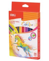 """Карандаши цветные Deli """"ColoRun"""", тополь, 36 цветов, арт. EC00330"""
