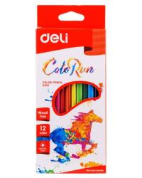 """Карандаши цветные """"Deli"""", трехгранные, 12 цветов, арт. EC00100"""