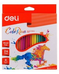 """Карандаши цветные """"Deli"""", трехгранные, 24 цветов, арт. EC00120"""