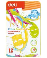 """Карандаши цветные Deli """"Color Emotion"""", липа, 12 цветов, арт. EC00205"""