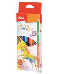 """Карандаши цветные Deli """"ColoRun"""", 2-х сторонние, 24 цвета, 12 штук, арт. EC00520"""