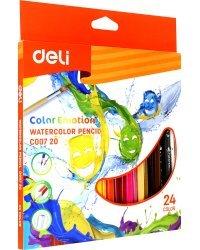 """Карандаши цветные акварельные """"Color Emotion"""", липа, 24 цвета, арт. EC00720"""