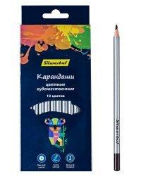 """Карандаши цветные Silwerhof """"Цветландия"""", супермягкий грифель, 12 цветов, арт. 134211-12"""