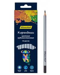"""Карандаши цветные Silwerhof """"Цветландия"""", супермягкий грифель, 18 цветов, арт. 134211-18"""